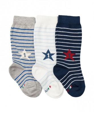 gambaletto neonato con motivo stella e righe
