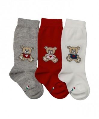 gambaletto neonato con motivo orsetto